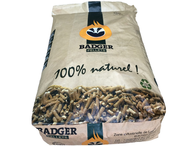 pellets badger sac 15 kg gailly energie. Black Bedroom Furniture Sets. Home Design Ideas